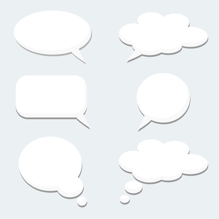 Set of speech thought bubbles, clouds, vector illustration icons Иллюстрация
