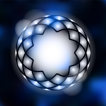 moder: Moder abstract background with geometrical star shape curve and bokeh lights, vector illustration background