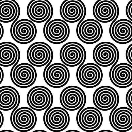 opt: Seamless pattern with spirals, illustration background Illustration