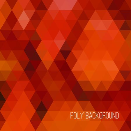 color design: Modern abstract  polygonal background. Vector geometric pattern. Low poly design. Autumn color palette.