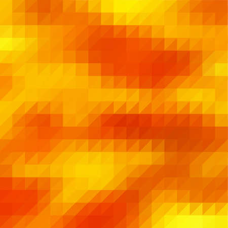 Modern abstract polygonal background. Vector geometric pattern. Low poly design. Autumn color palette.