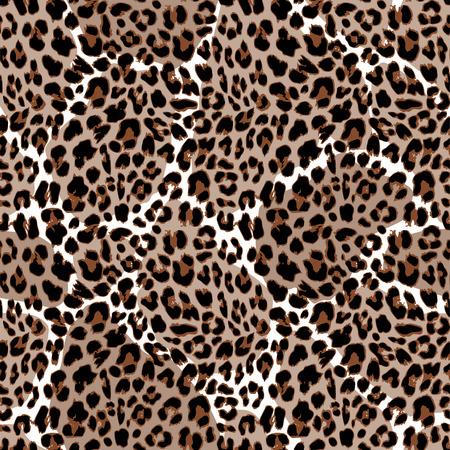 Leopard or jaguar seamless pattern. Modern animal fur design. Vector illustration background 向量圖像