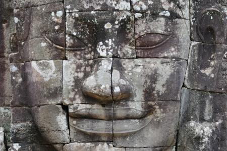 hindu god shiva: face of the bayon temple,angkor thom,cambodia