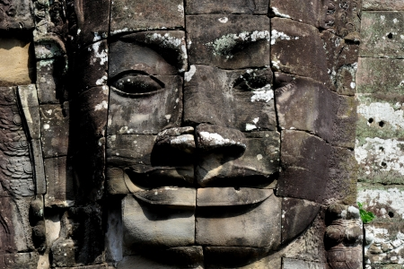 face of the bayon temple,angkor thom,cambodia photo