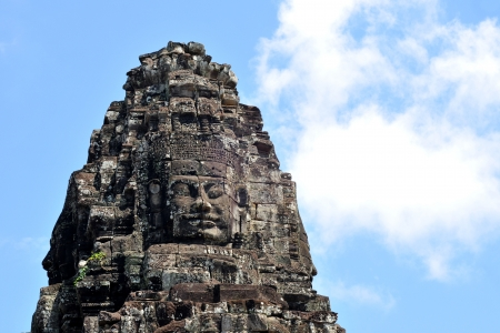 face of the bayon temple,angkor thom,cambodia  photo