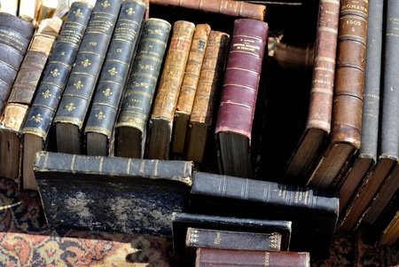 category: old books at a antique market