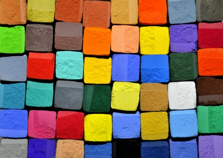 balance rainbow colors: pastel chalk background Stock Photo
