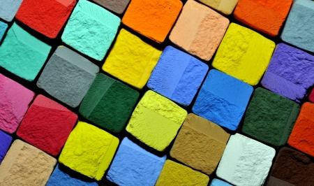 balance rainbow colors: colourful pastel chalk cubes
