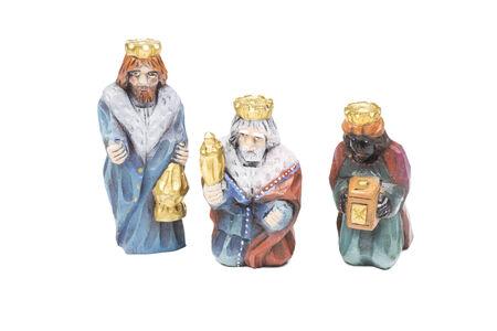 Nativity scene - Three wise men photo