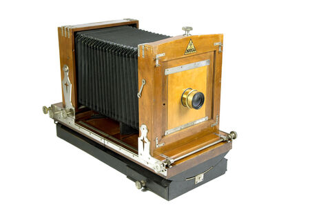 bellows: Old wooden bellows camera
