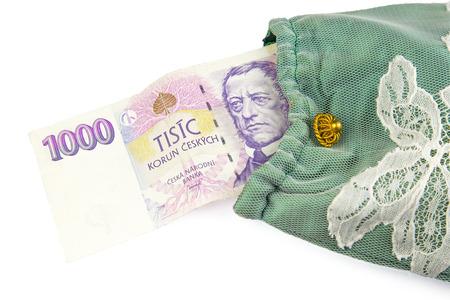 czech republic coin: Currency of the Czech republic Stock Photo
