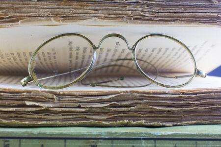 Original historical glasses photo