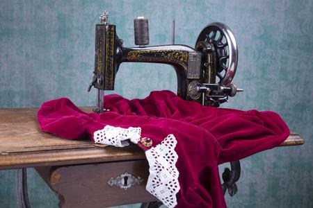 dexterity: Antique treadle sewing machine