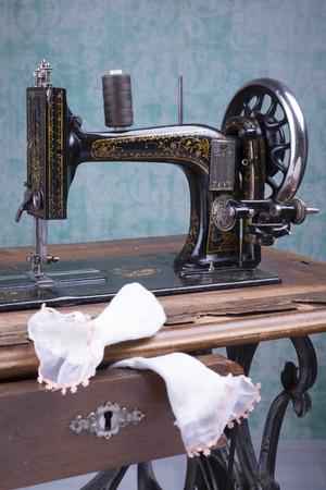 Antique Treadle Sewing Machine Stock Photo Picture And Royalty Free New Treadle Sewing Machine Needles