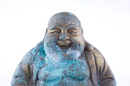 verdigris: Buddha figure with patina, verdigris
