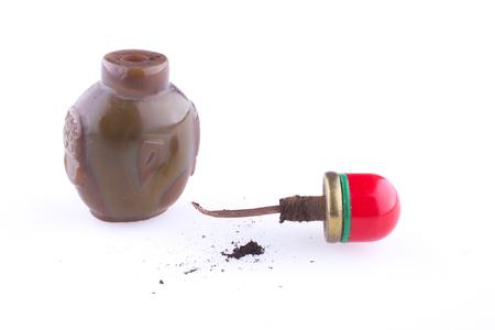 tabaco: Botella de tabaco tradicional mongola