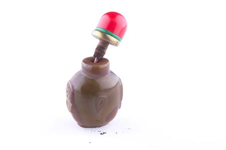 snuff: Traditional mongolian snuff bottle