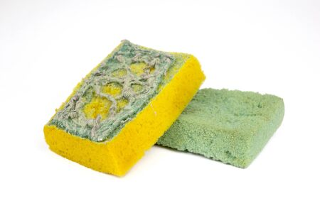 bad hygiene: Used sponges for washing the dishes