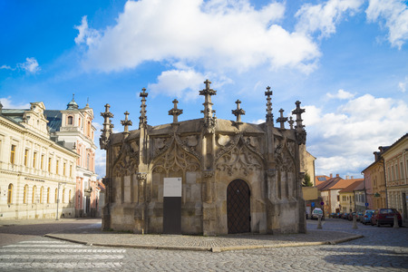 チェコ共和国、ヨーロッパでクトナー ・ ホラの町で中世の石 写真素材