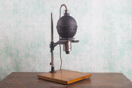 enlarger: Historical photographic enlarger, darkroom equipment