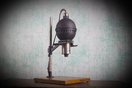 darkroom: Historical photographic enlarger, darkroom equipment