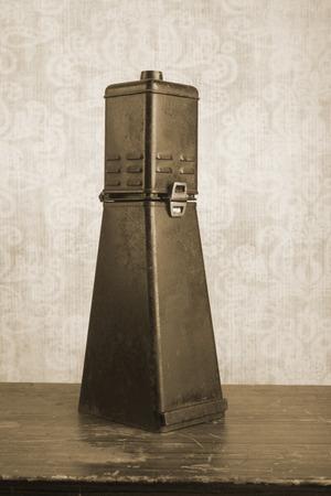 darkroom: Historical photographic enlarger, darkroom equipment, sepia tone Stock Photo