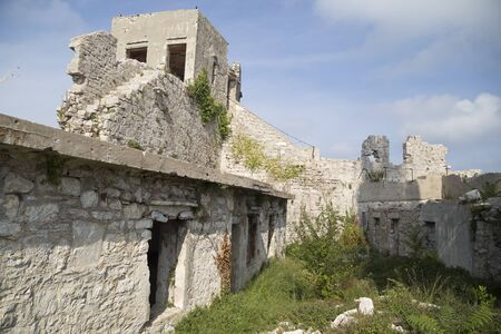 St. Michaels fortress near the towns Preko and Zadar, Ugljan island, Croatia, Europe Editorial