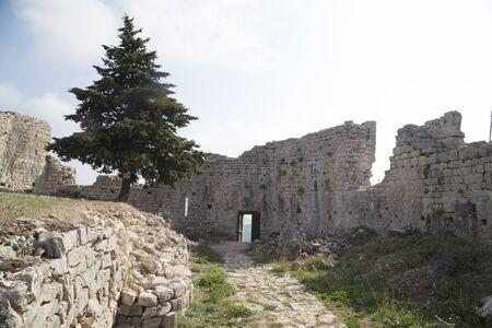 St. Michael's fortress near the towns Preko and Zadar, Ugljan island, Croatia, Europe