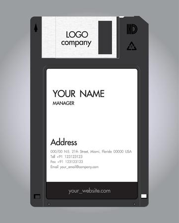 floppy-Disc namecard