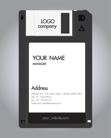 namecard:  floppy-Disc namecard