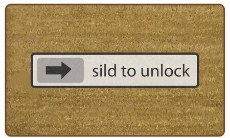 玄関マット スライド ロックを解除するベクトル