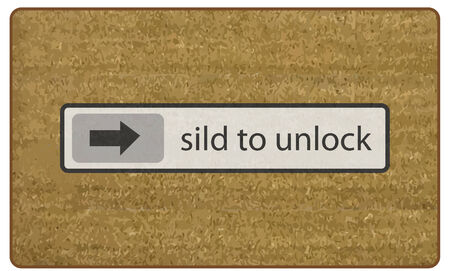 doormat: Doormat Slide To Unlock vector Illustration