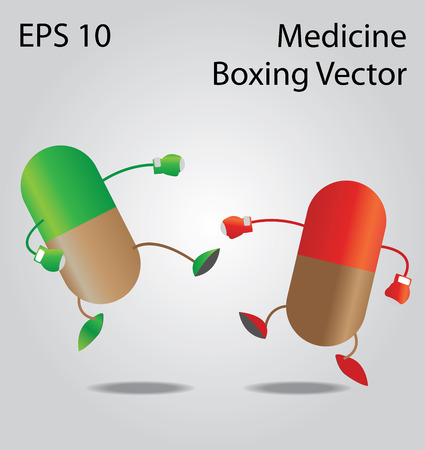 Medicine boxing vector
