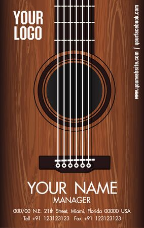 GUITAR NAMECARD Иллюстрация