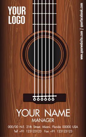 namecard: GUITAR NAMECARD Illustration