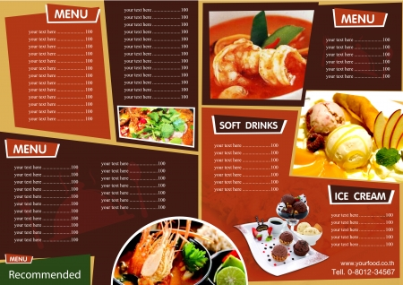 menu: Menu Background Illustration