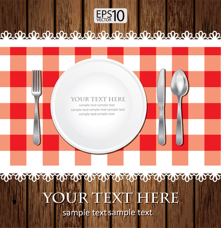 Empty Dinner Plate Illusztráció