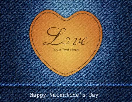 Happy Valentine Day Jeans Background