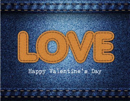 Love Valentine Jeans Background