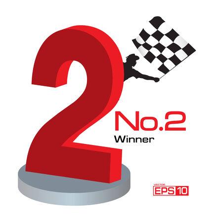 Trophy Winner Number 2 Illustration