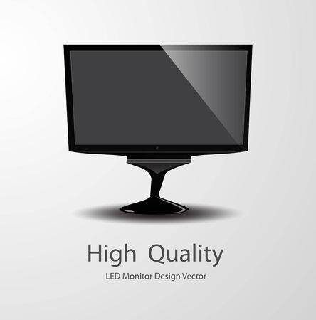 LED Monitor Vector Design