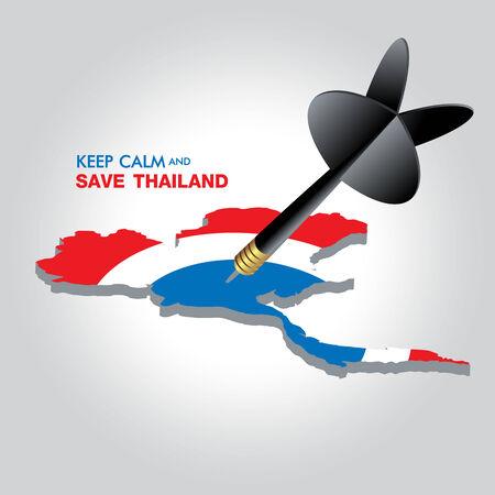 Mantenere la calma e RISPARMIA THAILANDIA Archivio Fotografico - 26563523