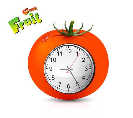 Fruit Clock Vector Design