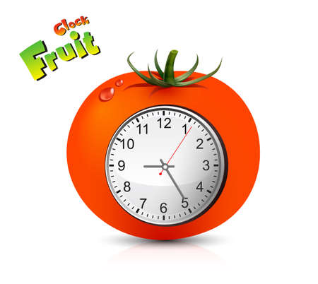 Fruit Clock Vector Design