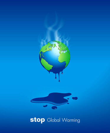 Stop Global Warming Vector Design