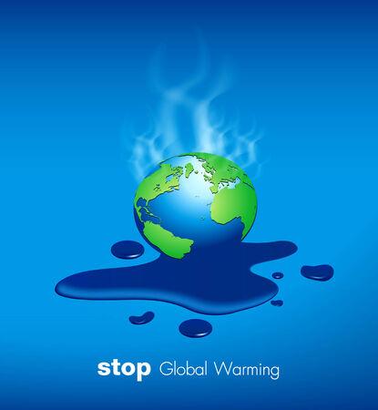 Stop Global Warming Vector