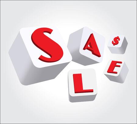 Sign Sale Box  Illusztráció