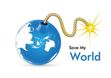 Save My World Reklamní fotografie - 26563571