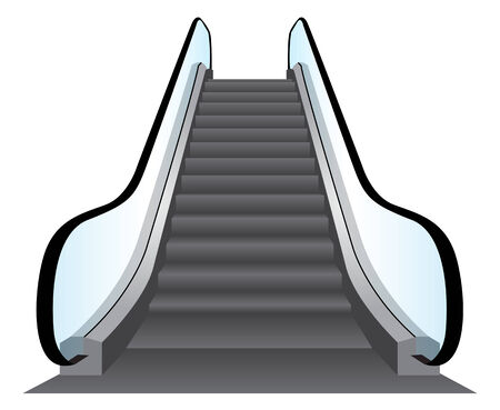 Escalators Vector Background Stok Fotoğraf - 27383455