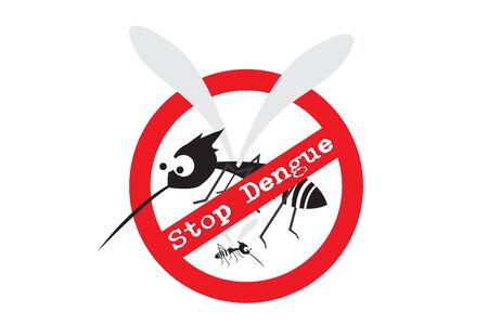 Stop Dengue Sign Фото со стока - 27598577